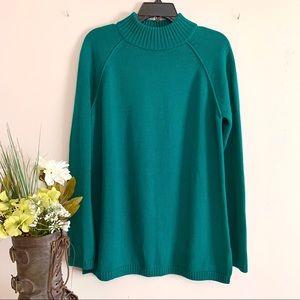 Kim Rogers Green Pullover Sweater - Size Medium